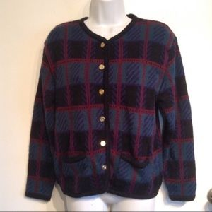 Vintage Sweaters - 🐣5for$25🐣 Vintage Tartan Plaid Cardigan Sweater